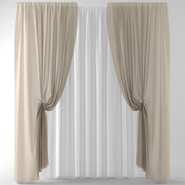 Curtainstulleblinds001 3D Model