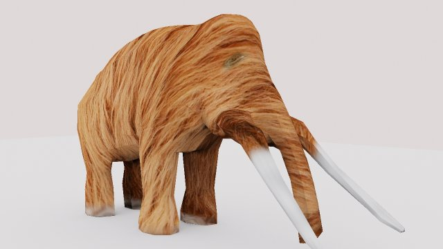 Download free LowPoly Mammoth 3D Model