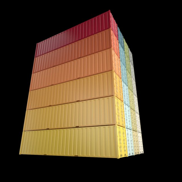 40ft Containers 1 3D Model