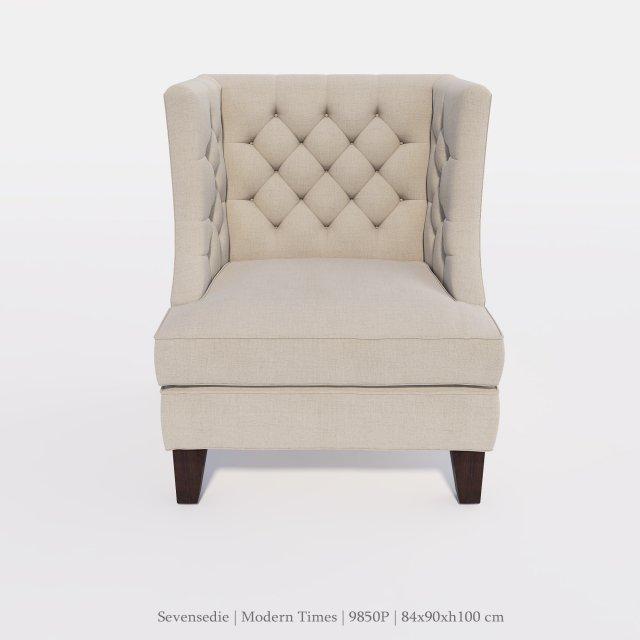 Seven sedie Armchair 9850P 3D Model