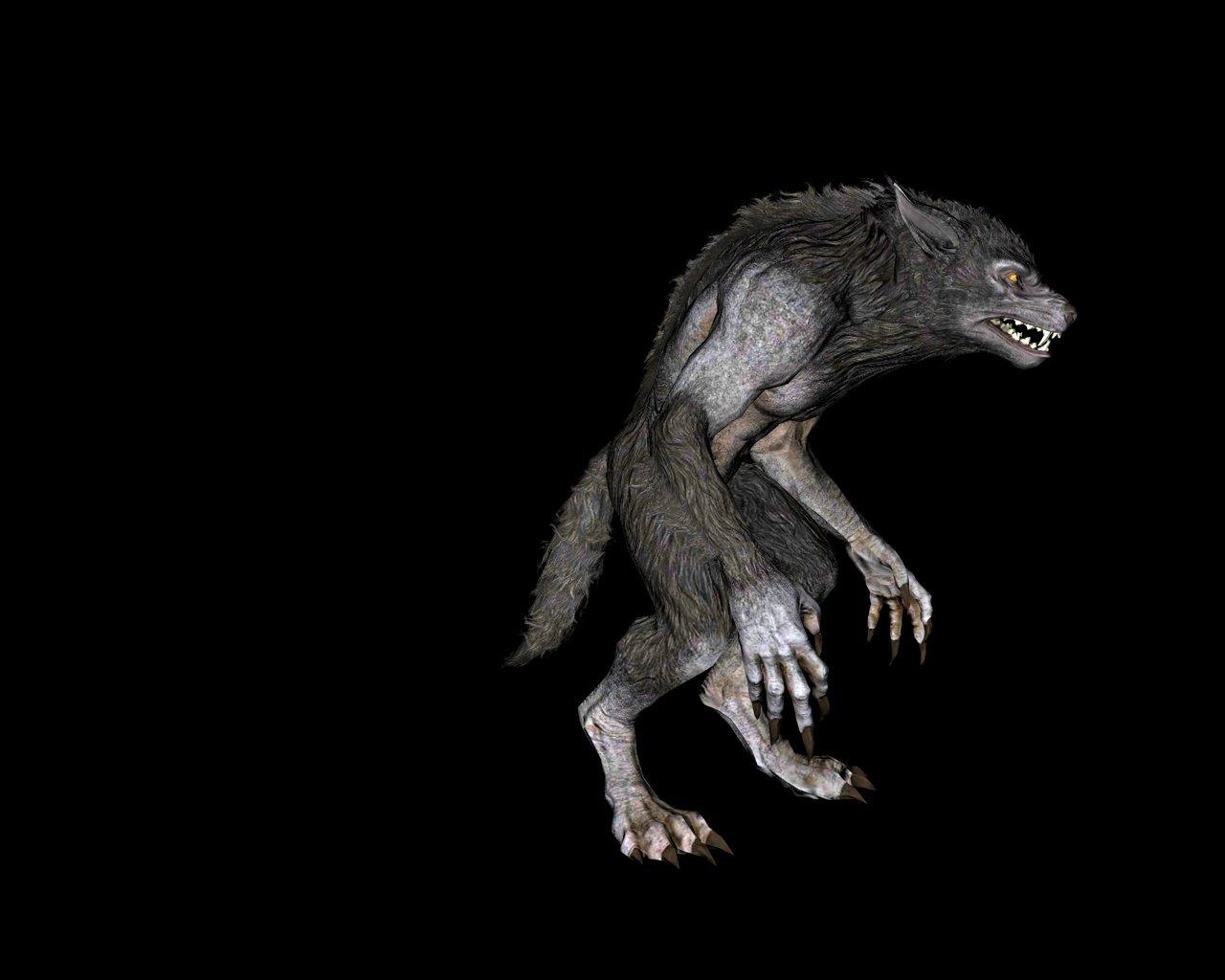 Skyrim Werewolf C4D 3D Model in Monster 3DExport
