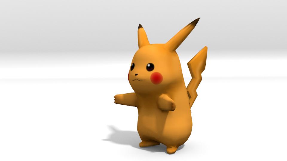 Lowpoly Pikachu 3D Model in Alien 3DExport