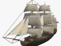 Schooner commercial sailship