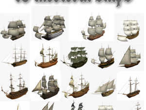 HMS 18 sailships collection