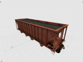 Cargo vagon train
