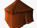 Medieval tent red small
