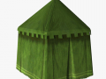 Medieval tent green round