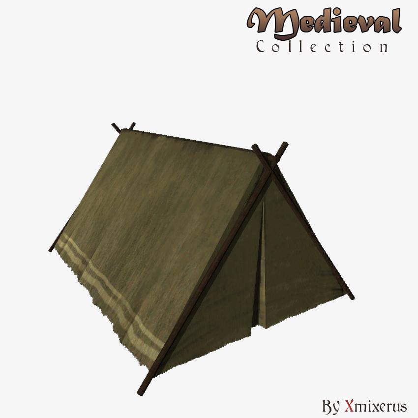 & Medieval small tent 3D Model in Fantasy 3DExport