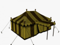 Medieval tent yellow large