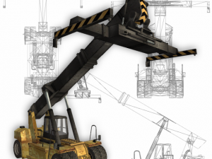 Reach stacker low poly