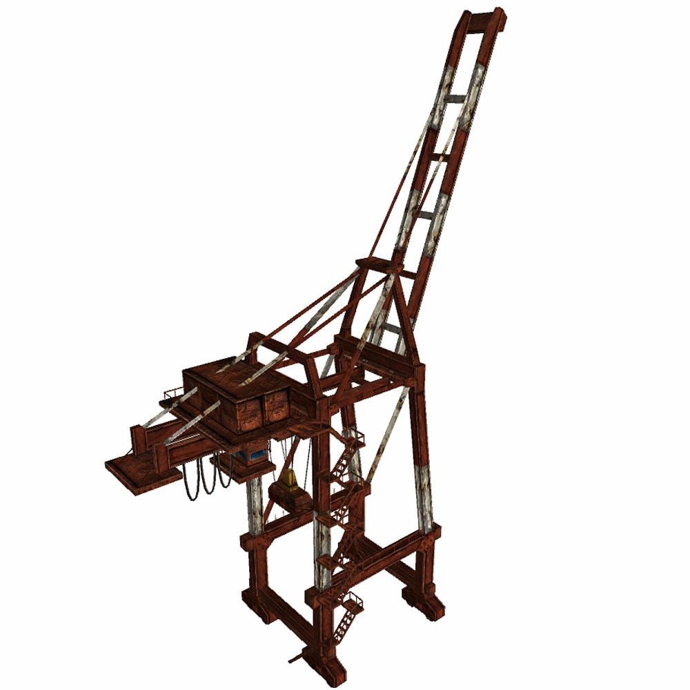 Port or railway crane 3D Model in Machines 3DExport