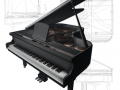 Grand Piano low poly