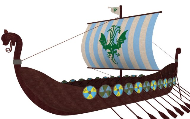 Viking ship 2 3D Model