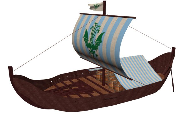 Viking Cargo Ship Knorr 3D Model