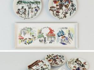 Set of plates Joli Paris
