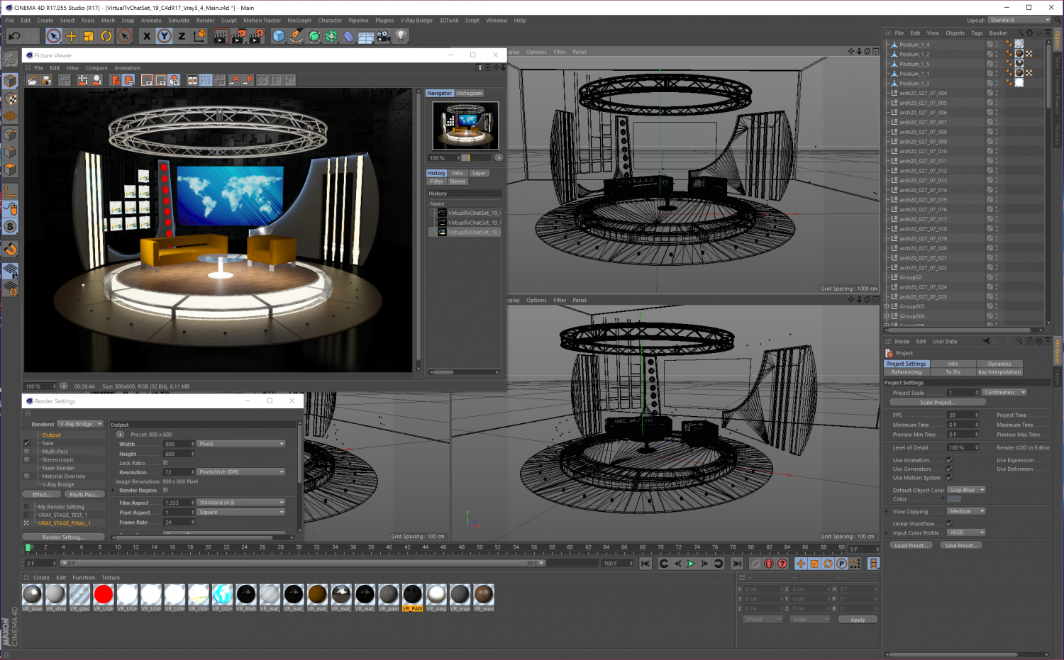 3d Virtual Tv Studio Chat Set 19 3d Model In Office 3dexport