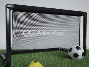 Portable Soccer Goal Net and Ball with Cone