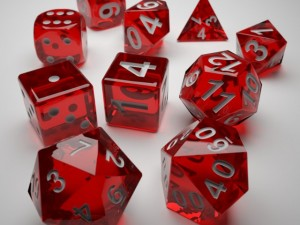 Role Playing Dice  Complete Set  3D Print Ready