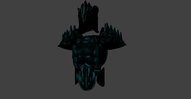 Black armor Free 3D Model in Alien 3DExport