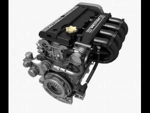 4 Cylinder Engine 02