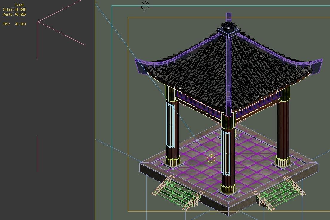 Game Models - City Gazebo 02 3D Model in Decoration 3DExport