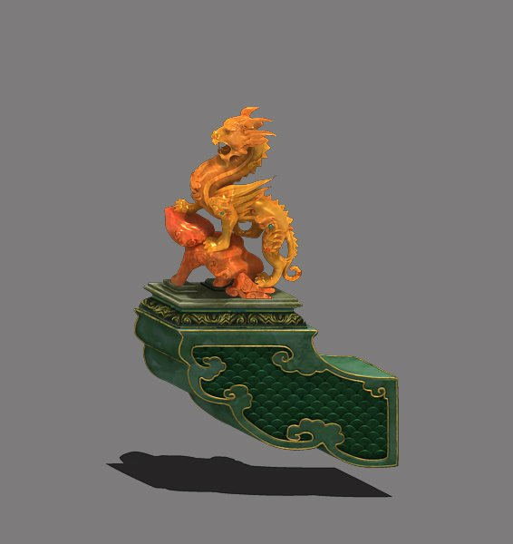 ancient chinese architecture roof decoration acc 3d model in