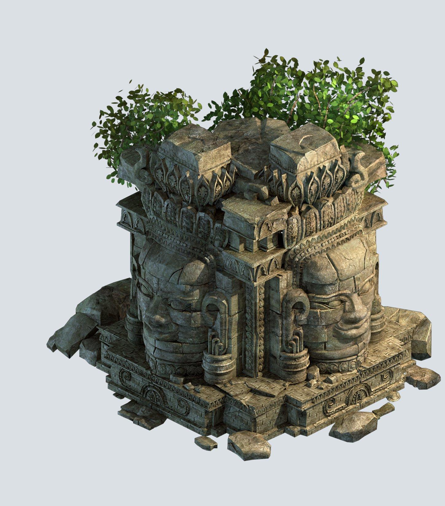 Kasyapa Buddha  Buddha Statues 01 3D