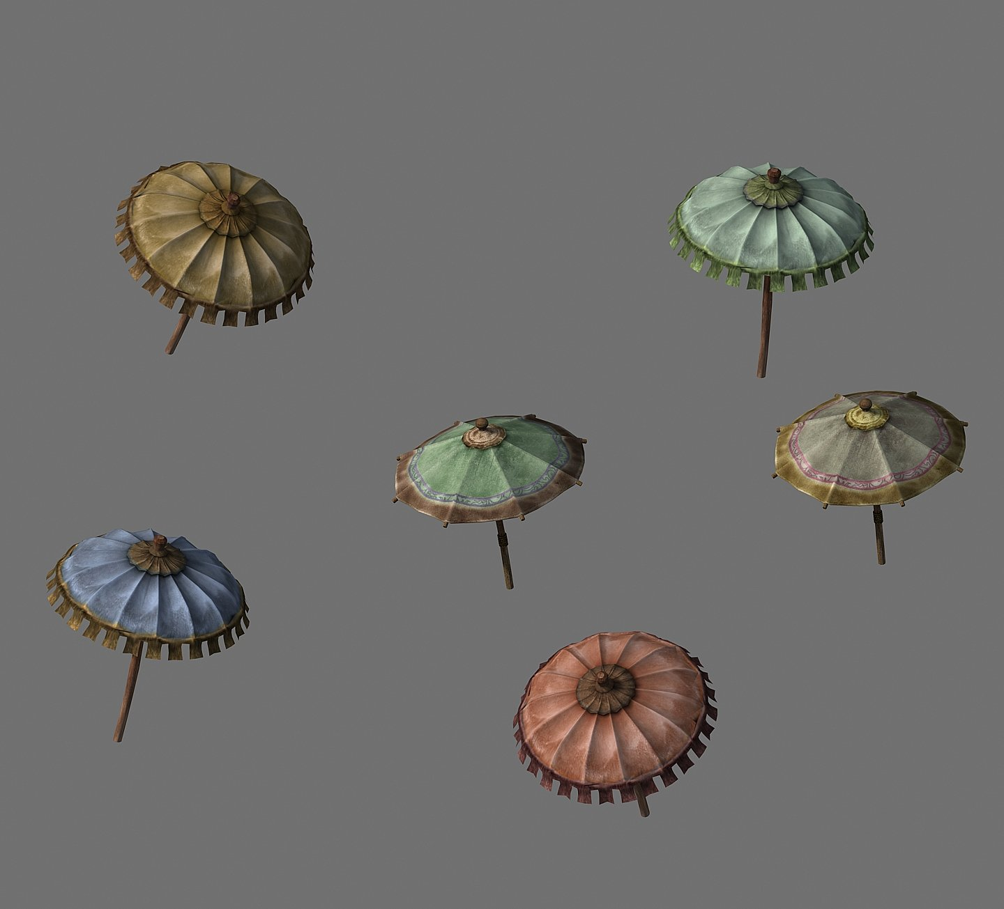 Journey to the West - cloth umbrella 3D Model in Other 3DExport