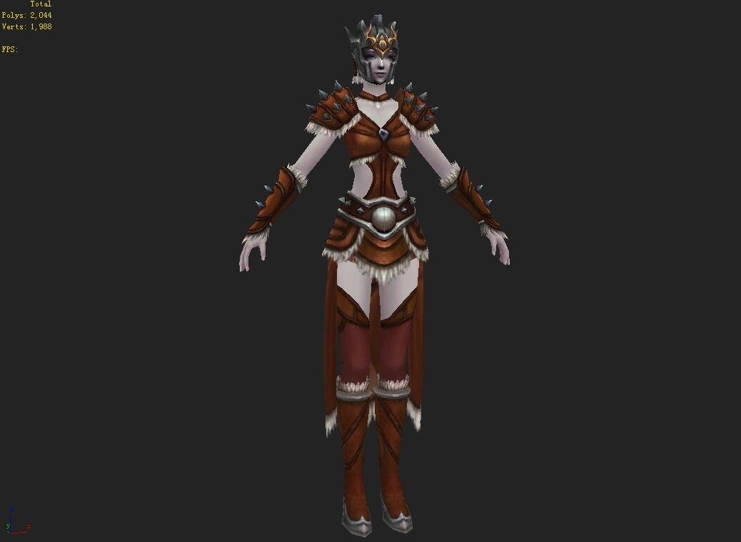 Light Armor Set - Female 14 3D Model in Woman 3DExport