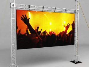 Telebim scaffolding LED screen high