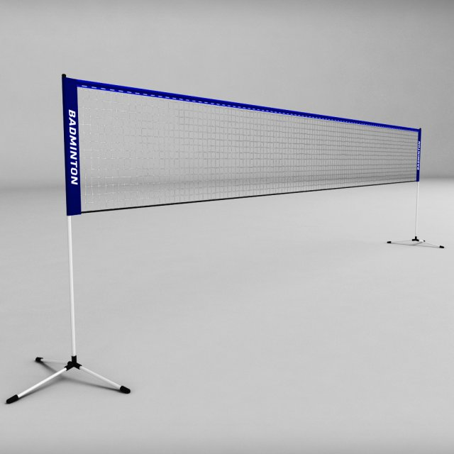 Badminton net 3D Model