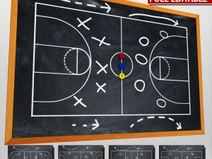 Sport chalkboard tactical low poly