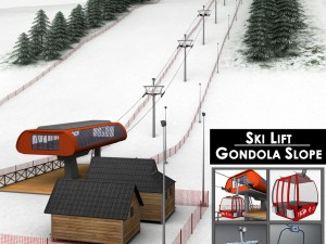 Ski slope gondola mountain large pack