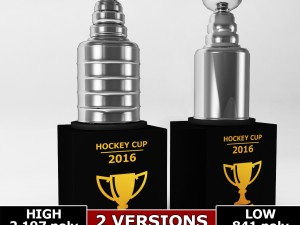 Hockey stanley cup trophy low poly