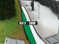 Ski jumping hill low detail