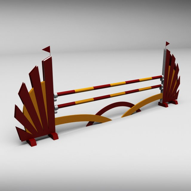 Horse jump obstacle 01 3D Model