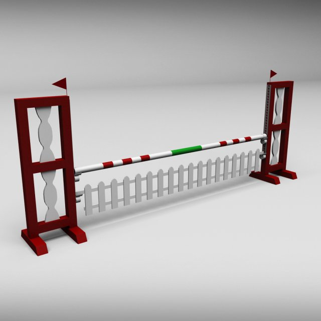 Horse jump obstacle 02 3D Model