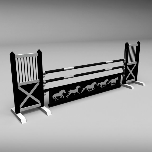 Horse jump obstacle 08 3D Model