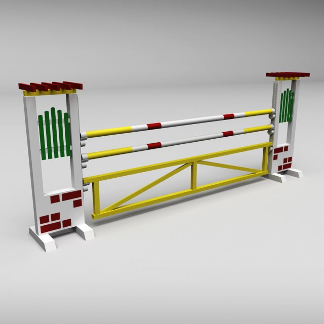 Horse jump obstacle 04 3D Model