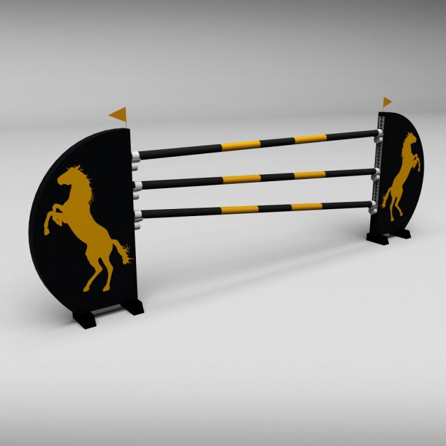 Horse jump obstacle 07 3D Model