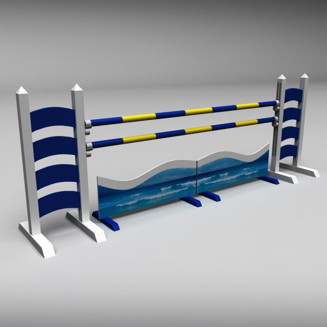 Horse jump obstacle 06 3D Model