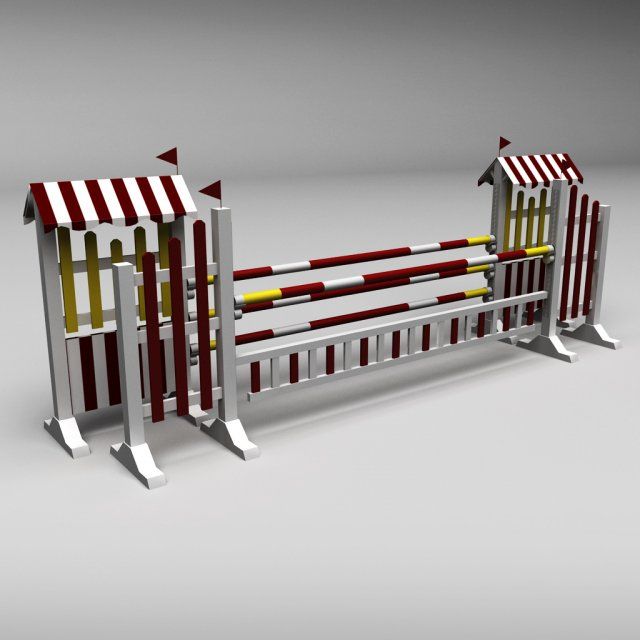 Horse jump obstacle 10 3D Model