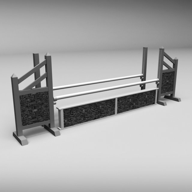 Horse jump obstacle 03 3D Model