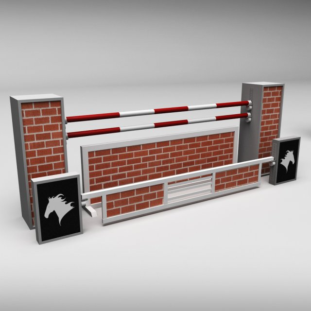 Horse jump obstacle 09 3D Model