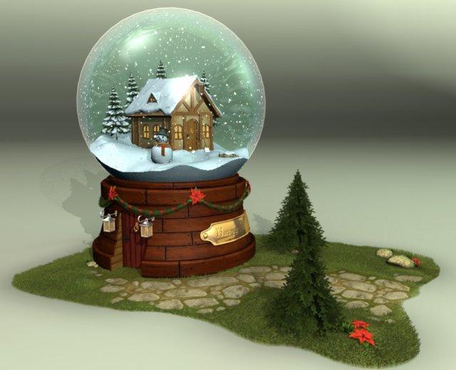 Glass Snow Ball 3D Model
