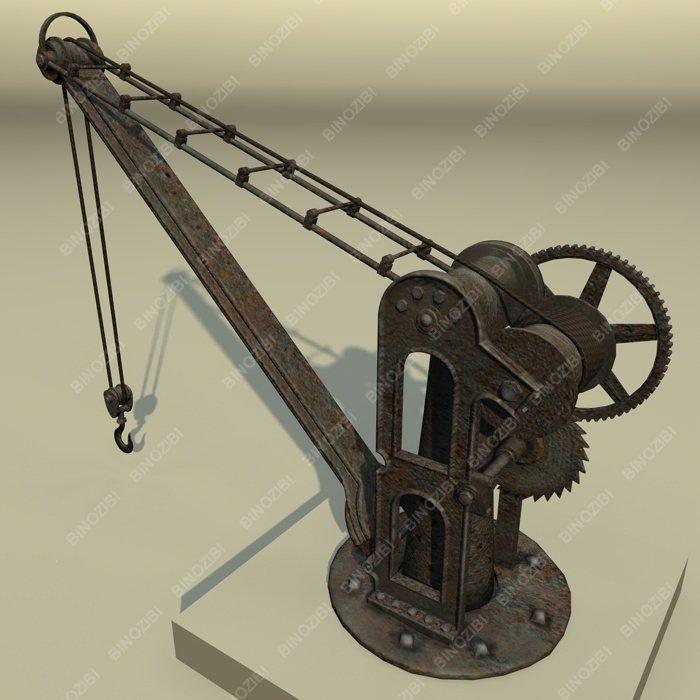 Old Port Crane 3D Model in Machines 3DExport