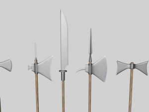 Halberds and axes