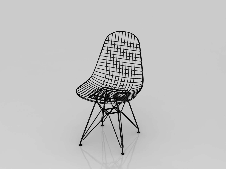 Wireframe Chair Model 3D in Chair 3DExport