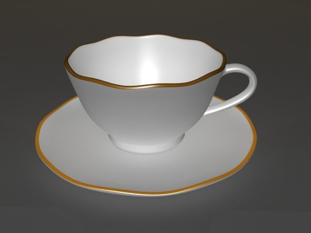 Cup and saucer 3D Model in Cookware Tools 3DExport