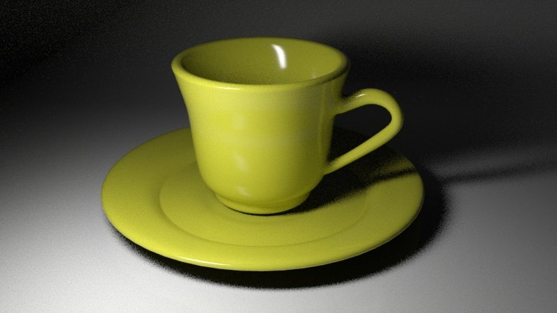 Tea Cup 3D Model in Kitchen 3DExport